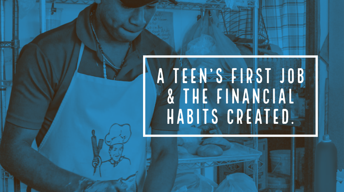 Teens first job and finance image twitter